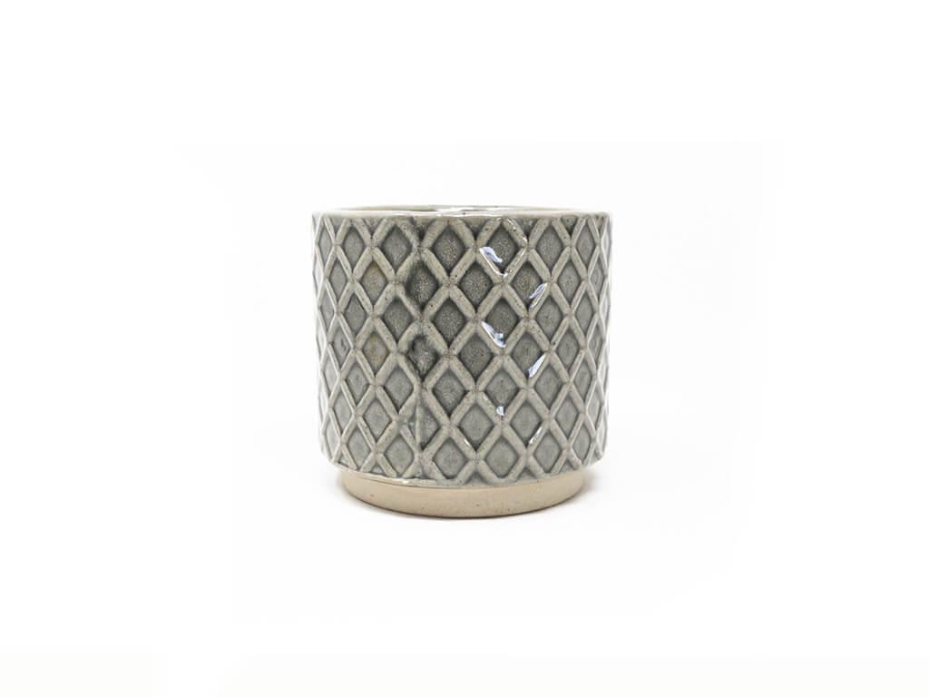 Maceta color gris 10cm MQ304