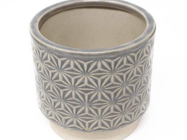 Maceta color gris 11cm MQ504 detalle