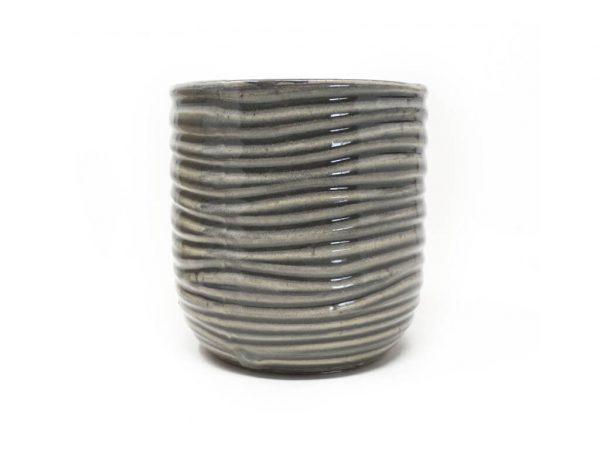 Maceta color gris 13cm MQ614