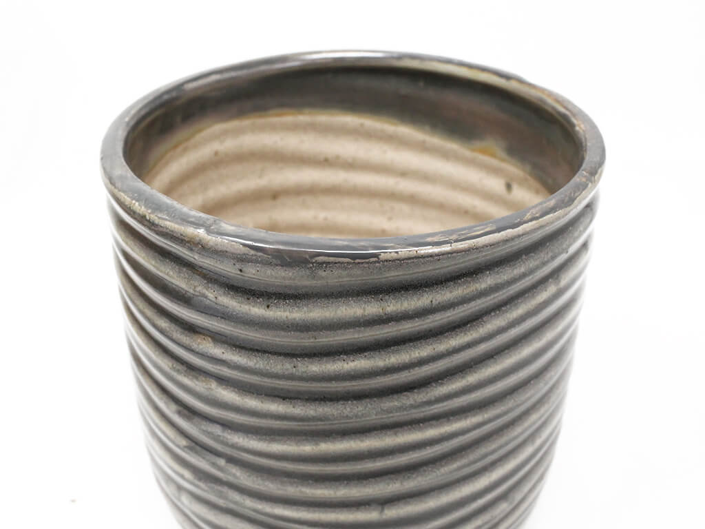 Maceta color gris 13cm MQ614 detalle