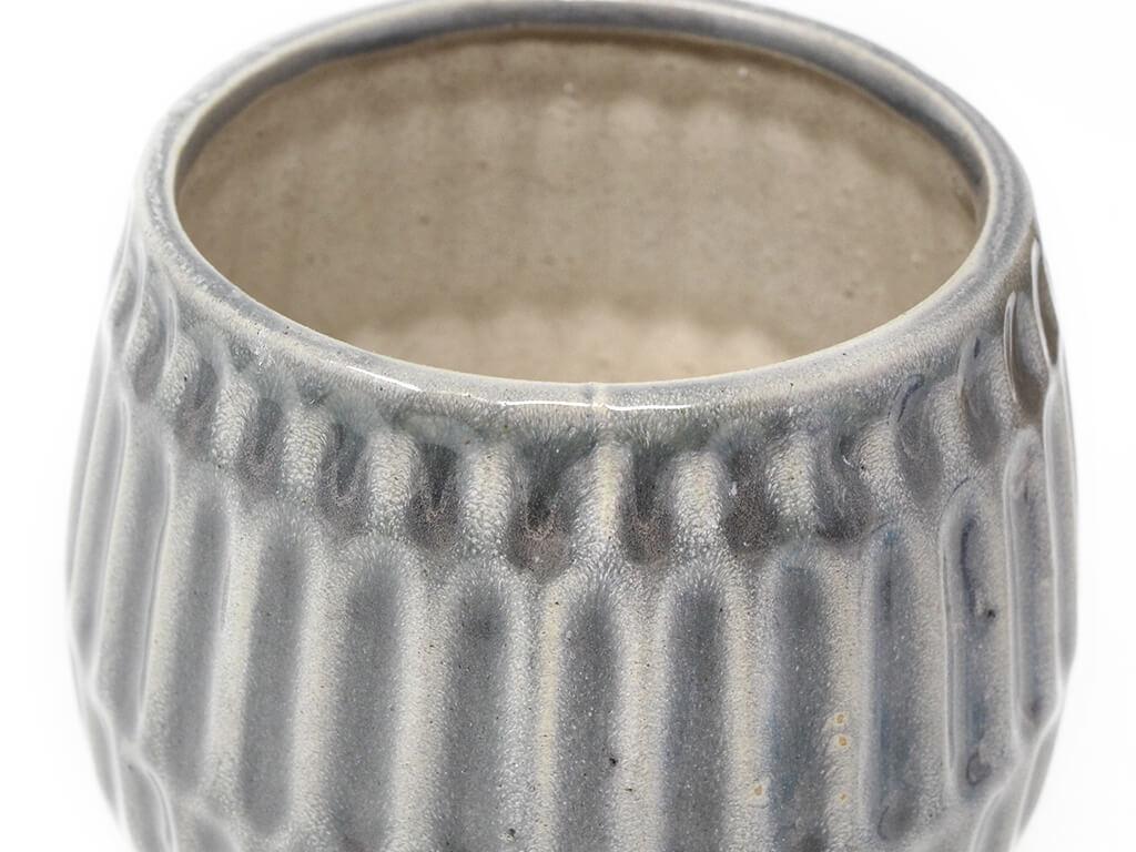 Maceta color gris 13cm MQ644 detalle