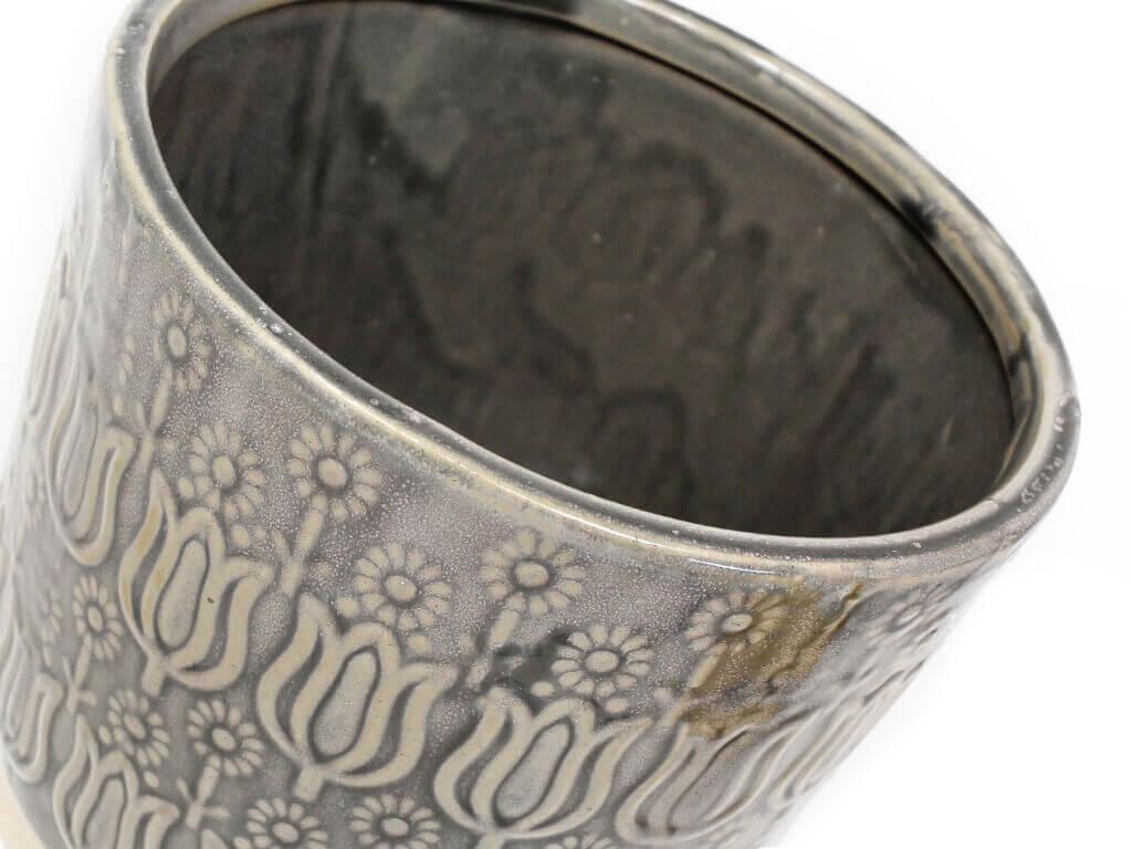 Maceta color gris 18cm detalle