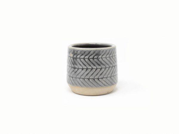 Maceta color gris 8cm MQ164