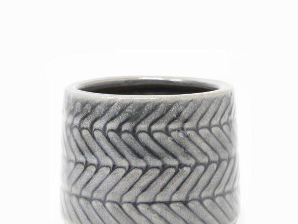 Maceta color gris 8cm MQ164 detalle