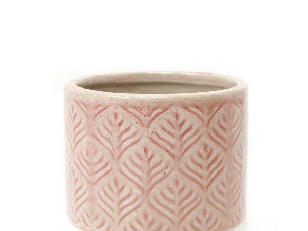 Maceta color rosa 10cm MQ333 detalle