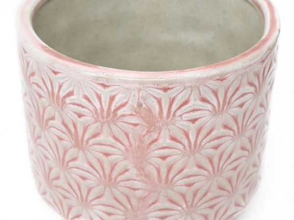 Maceta color rosa 11cm MQ503 detalle