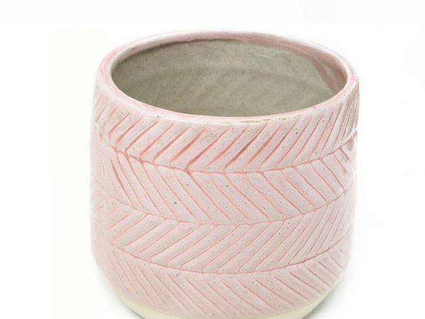Maceta color rosa 11cm MQ533 detalle