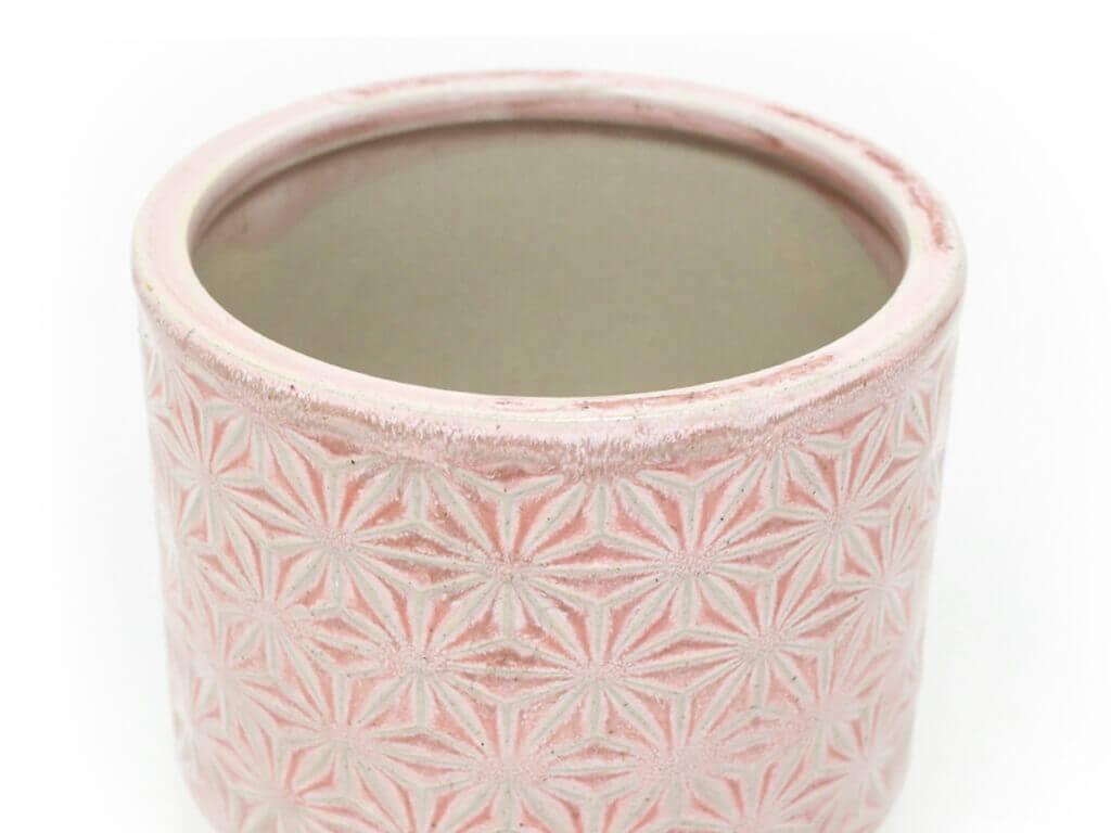 Maceta color rosa 14cm detalle