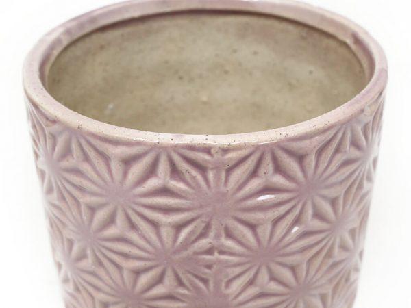 Maceta color violeta 10cm MQ311 detalle