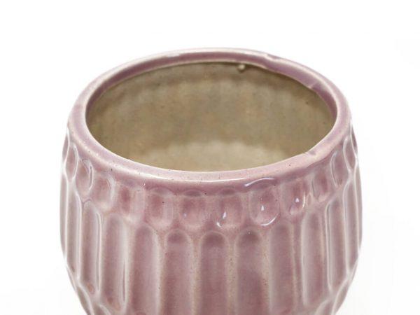 Maceta color violeta 13cm MQ641 detalle
