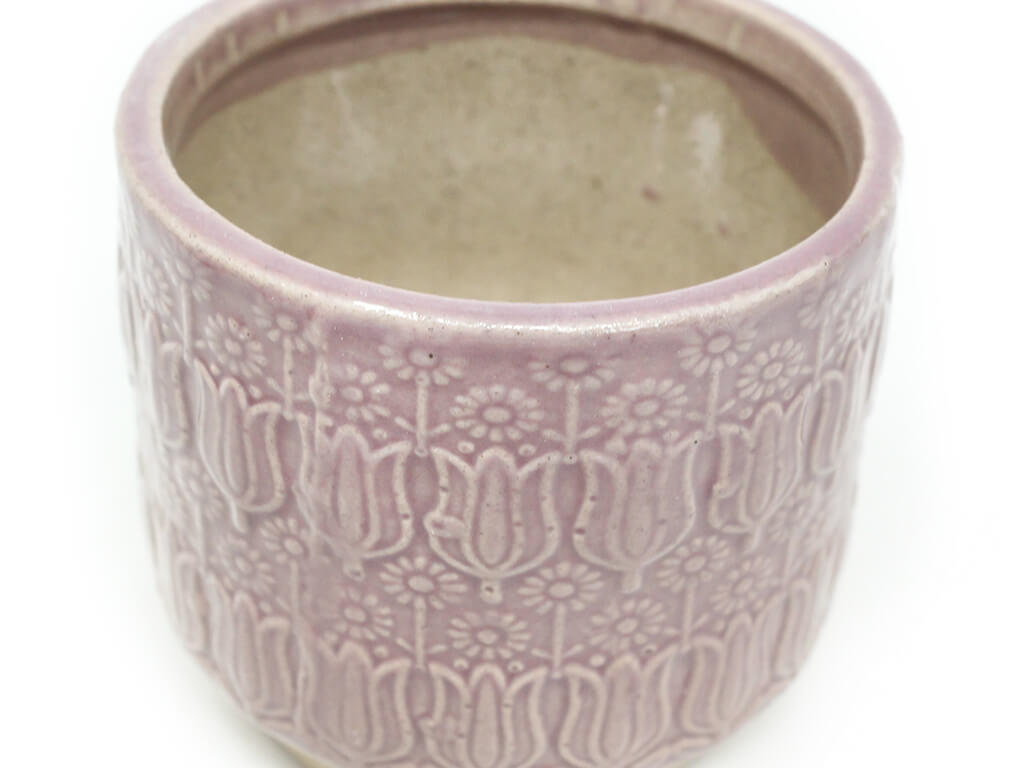 Maceta color violeta 8cm MQ131 detalle