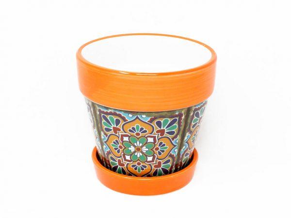 maceta-mandala-con-plato-mediano-naranja-detalle